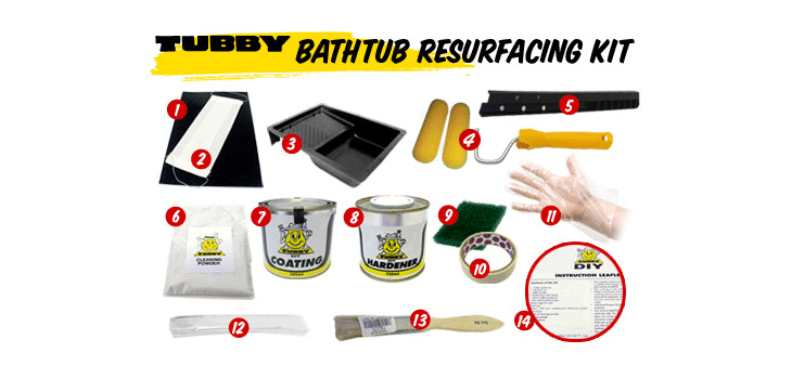 Bath Refinishing and Bathtub Resurfacing kits | TUBBY DIY