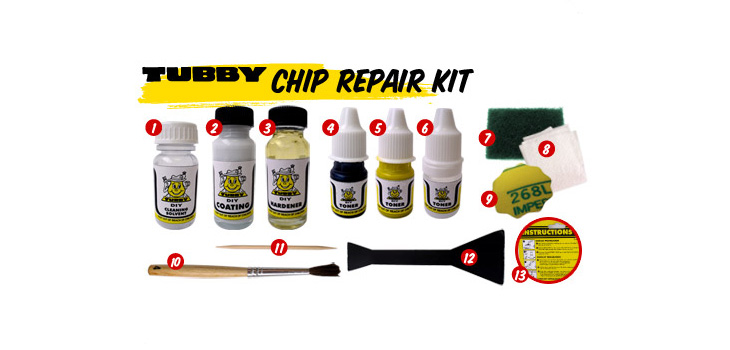 Chip Repair Kit easy steps